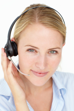 woman with phone headset iStock 000017961300XSmall